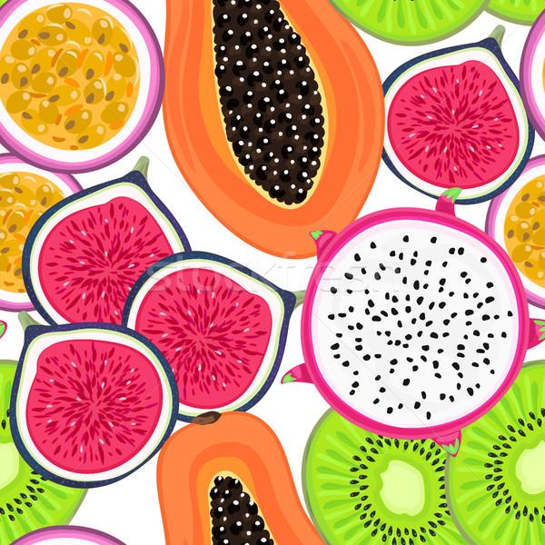 Vector tropische vruchten gezonde dessert Stockfoto © user_10144511