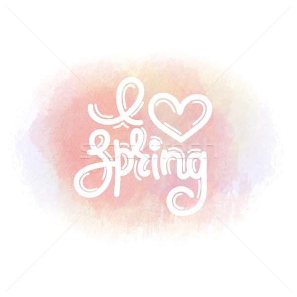 Amore primavera cute creativo acquerello Foto d'archivio © user_10144511