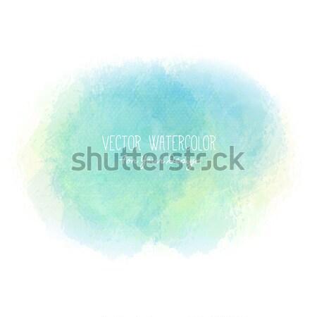 Brillante mancha acuarela pintura textura colorido Foto stock © user_10144511