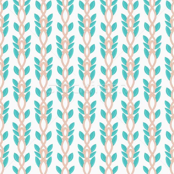 Floral seamless pattern. Hand drawn interwoven branches. Repeating artistic background. Abstract her Stock photo © user_10144511