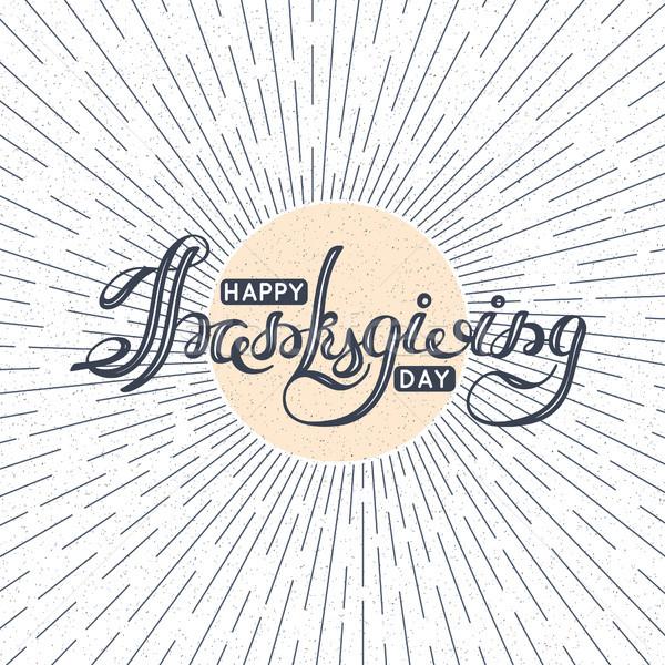 Stock fotó: Boldog · hálaadás · nap · ősz · ünnep · kártya