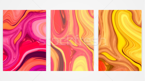 Backgrounds with marbling. Marble texture. Bright paint splash. Colorful fluid. It can be used for p Stock photo © user_10144511
