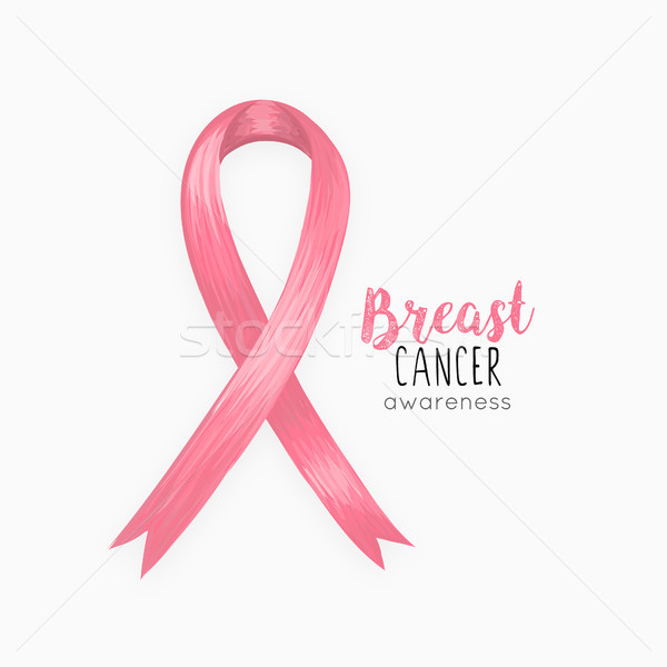 National Breast Cancer Awareness Month. Pink ribbon. October. Women's health. Female Disease. Oncolo Stock photo © user_10144511
