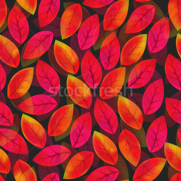 Floral seamless pattern with fallen leaves. Autumn. Leaf fall. Colorful artistic background Stock photo © user_10144511