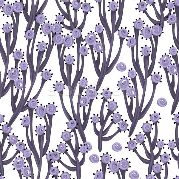 ストックフォト: フローラル · 手描き · 創造 · 花 · 木