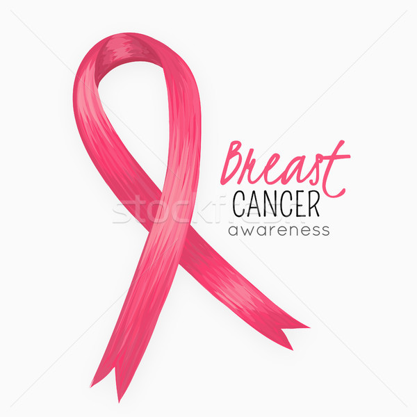 National Breast Cancer Awareness Month. Pink ribbon. October. Women health. Female Disease. Oncology Stock photo © user_10144511