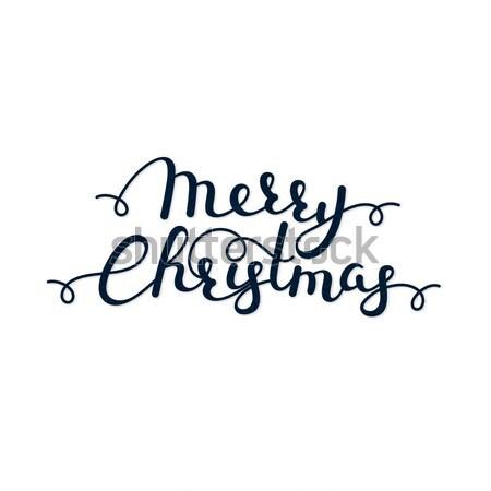 陽気な クリスマス 書道 冬 休日 ストックフォト © user_10144511