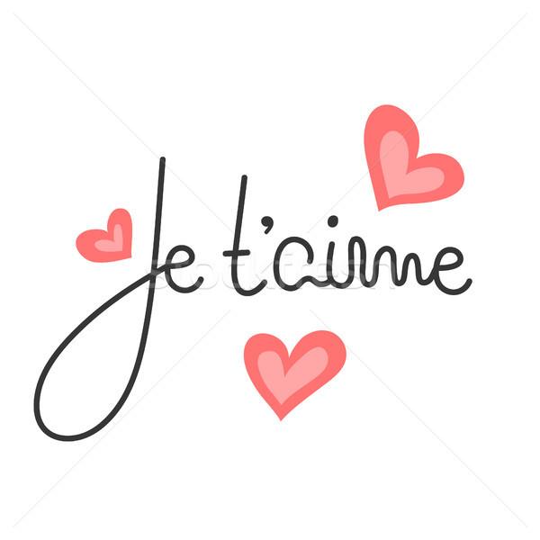 ストックフォト: フランス語 · ロマンチックな · 引用 · 幸せ · バレンタインデー