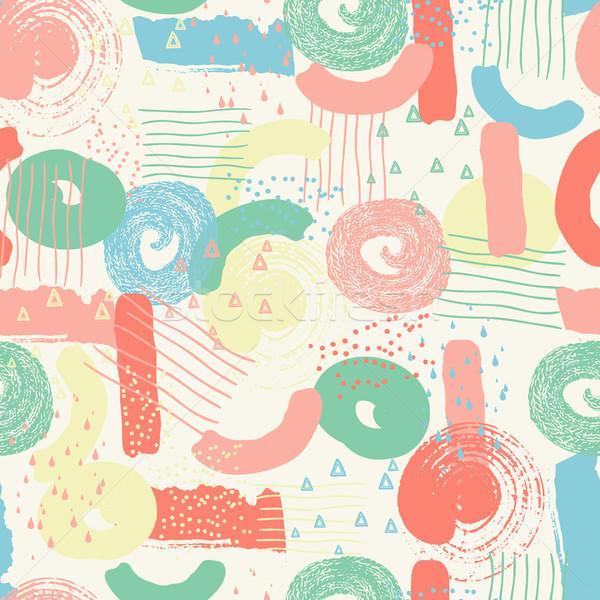 Vektor végtelen minta absztrakt formák kreatív textúrák Stock fotó © user_10144511