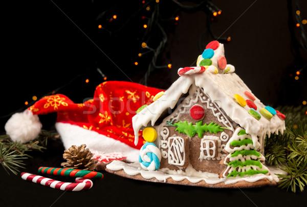 Stock photo: Gingerbread house. Christmas holiday sweets. European christmas