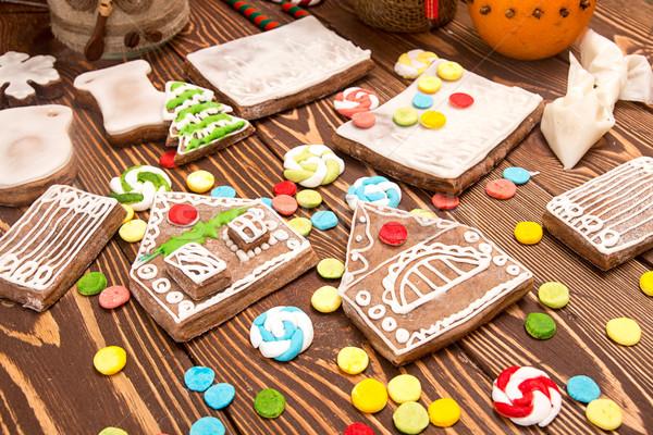 Oluşturma Noel zencefilli çörek ev Stok fotoğraf © user_11056481