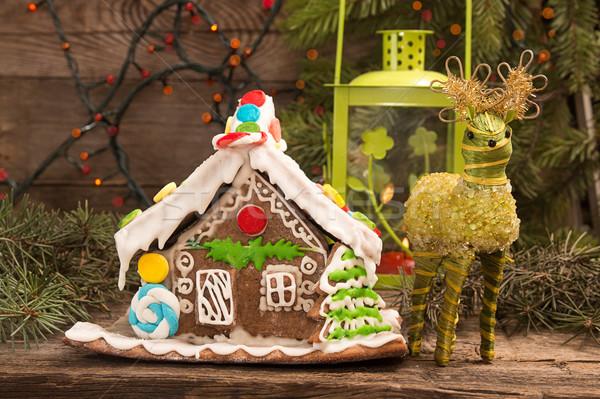 ジンジャーブレッド 家 ヨーロッパの クリスマス 休日 伝統 ストックフォト © user_11056481