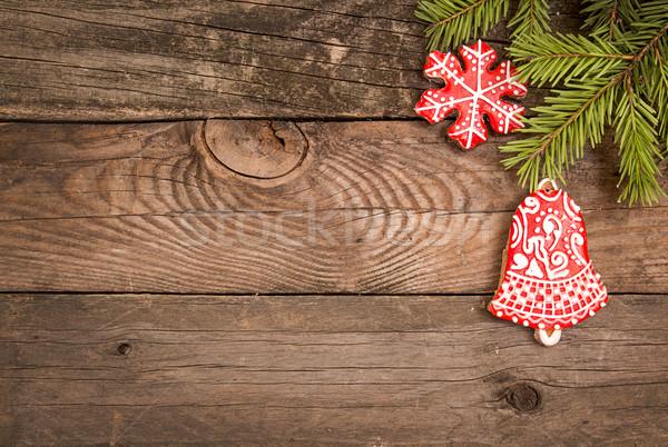 クリスマス 休日 ジンジャーブレッド クッキー 赤 ストックフォト © user_11056481