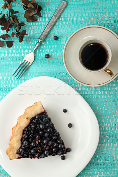 Slice of bilberry cake Stock photo © user_11056481