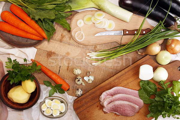 Natural organic homegrown vegetables for cooking dinner Stock photo © user_11056481