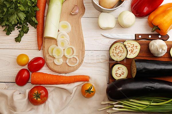 自然 オーガニック 野菜 料理 ディナー 材料 ストックフォト © user_11056481