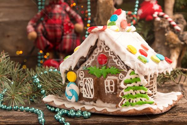 Christmas piernik domu wakacje dekoracje starych Zdjęcia stock © user_11056481