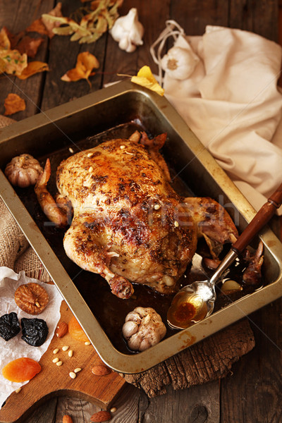 Roasted small turkey for celebration Thanksgiving day Stock photo © user_11056481