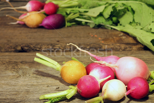 Fresh  multi-coloured radish Stock photo © user_11056481