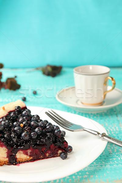 Fatia bolo branco prato comida natureza Foto stock © user_11056481