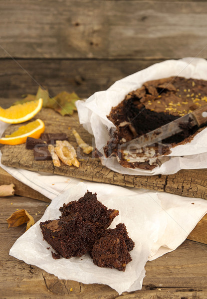 Still life with chocolate cake Stock photo © user_11056481