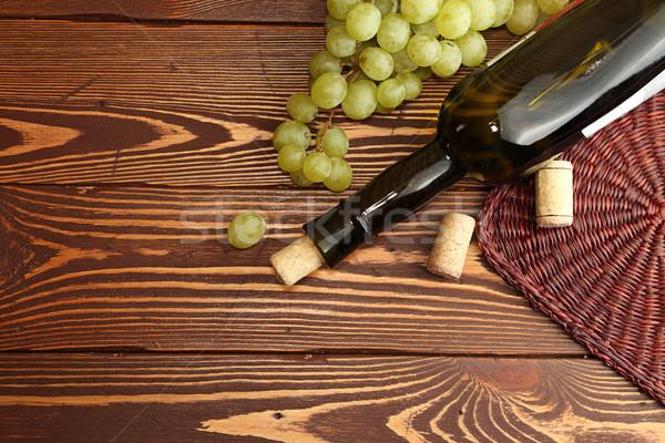 ブドウ 緑 ワインボトル クラスタ 甘い ストックフォト © user_11056481