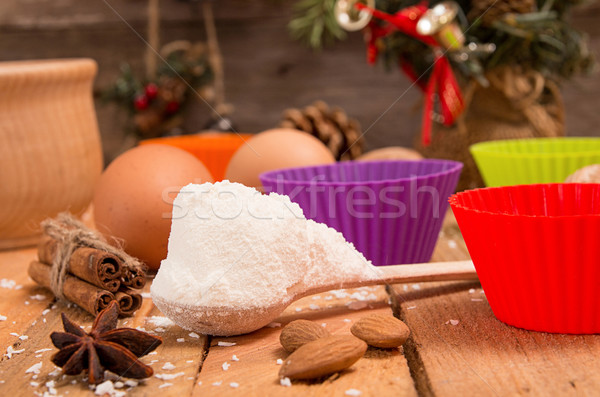 Preparation Christmas New Year sweeties. Ingredients and holiday Stock photo © user_11056481