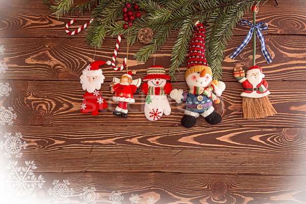 Christmas decorations. Set for holiday greeting card  Stock photo © user_11056481