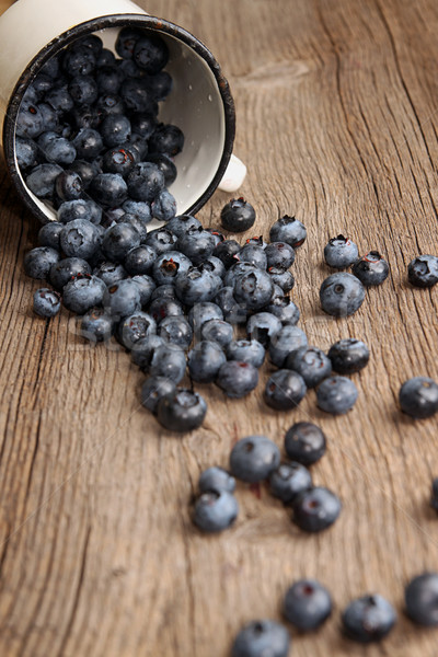 Bilberry in white enameled mug Stock photo © user_11056481