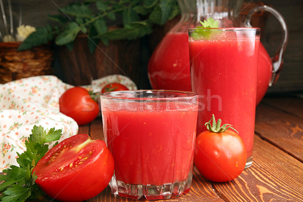 2 眼鏡 トマトジュース 新鮮な トマト ストックフォト © user_11056481