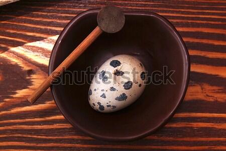Quail egg and spyglass Stock photo © user_11056481