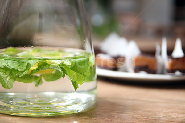 Water with citrus and mint Stock photo © user_11056481