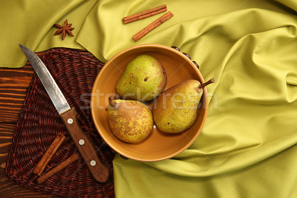 Homegrown pears from rural garden Stock photo © user_11056481