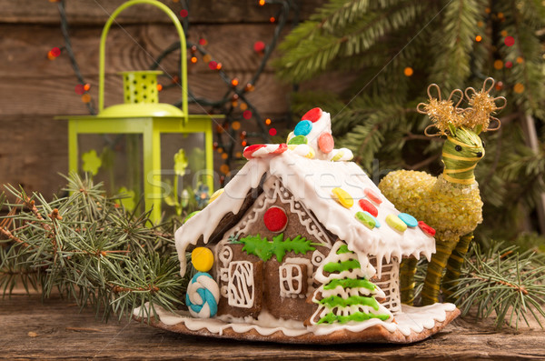 Gingerbread house. European Christmas holiday traditions.  Stock photo © user_11056481