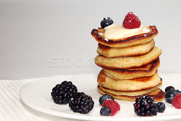 Pancakes with berry Stock photo © user_11056481