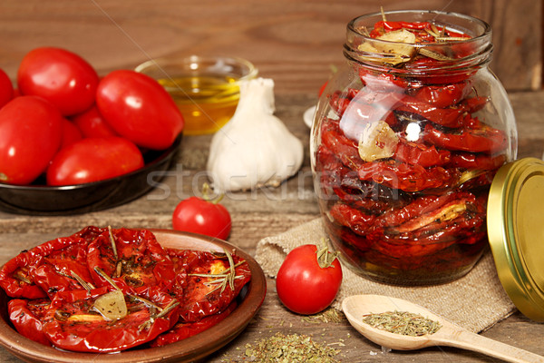 Preparation dried tomatoes Stock photo © user_11056481