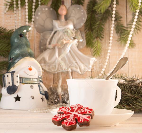 ジンジャーブレッド クッキー カップ 茶 クリスマス ストックフォト © user_11056481