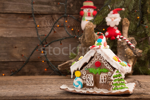 Stock photo: Gingerbread house. Christmas holiday sweets. European christmas