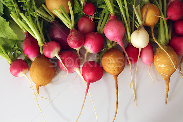 Fresh radish on white background Stock photo © user_11056481