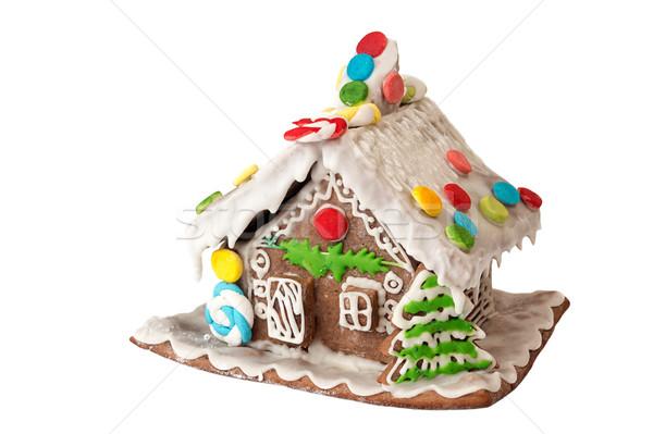 クリスマス ジンジャーブレッド 家 孤立した 白 休日 ストックフォト © user_11056481
