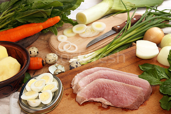 Ingredients for cooking delicious healthy dinner. Stock photo © user_11056481