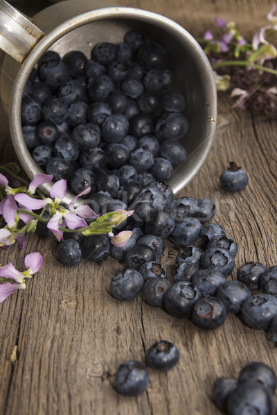 Bilberry on rustic table Stock photo © user_11056481