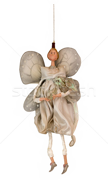 Fairy  isolated on white. Ney Year and Christmas tree decoration Stock photo © user_11056481