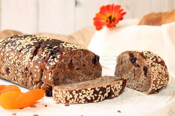 Somun çavdar ekmek maya susam kurutulmuş Stok fotoğraf © user_11056481