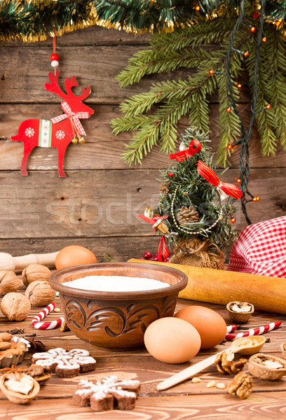 Préparation Noël nouvelle année ingrédients vacances décorations Photo stock © user_11056481