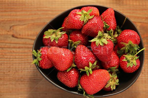 Organic strawberries Stock photo © user_11056481