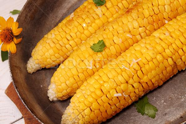トウモロコシ オーブン バター ニンニク 古い ストックフォト © user_11056481