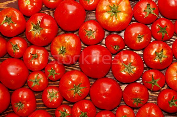 Background of group fresh organic tomatoes Stock photo © user_11056481