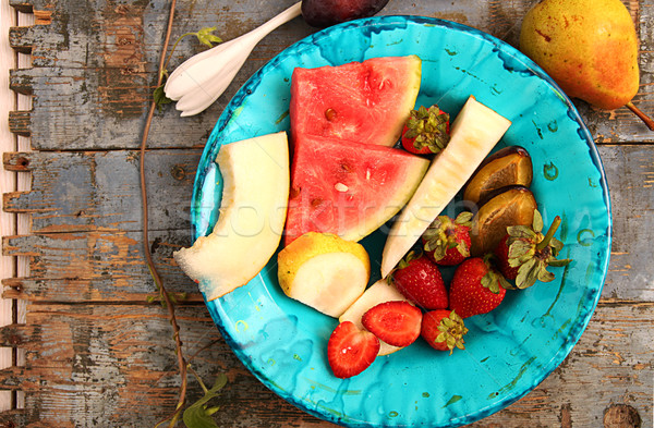 Summer homegrown fruits and berries.  Stock photo © user_11056481