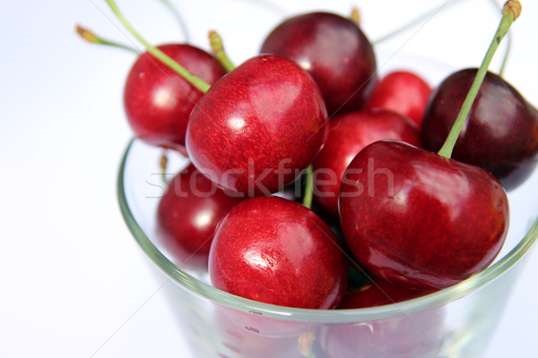Sweet cherry in glass bowl Stock photo © user_11056481